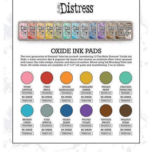 Distress Oxide ink pads by Tim Holtz, set #1 (early 2017), all 12 colors-Only One Life Creations