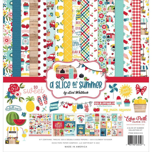 "Echo Park 12""x12"" Collection Kit: A Slice of Summer (OS241016)-Only One Life Creations"