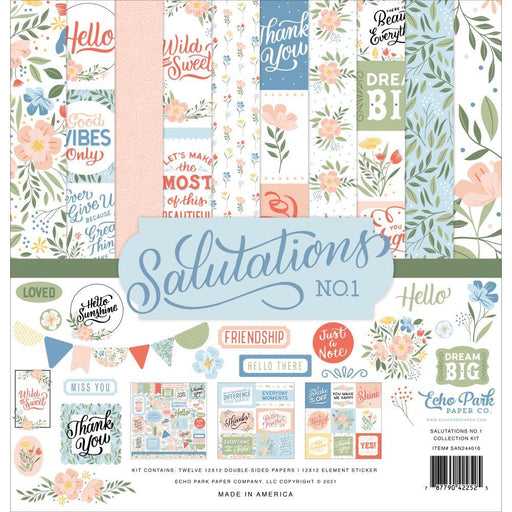 "Echo Park 12""x12"" Collection Kit: Salutations No.1 (AN244016)-Only One Life Creations"