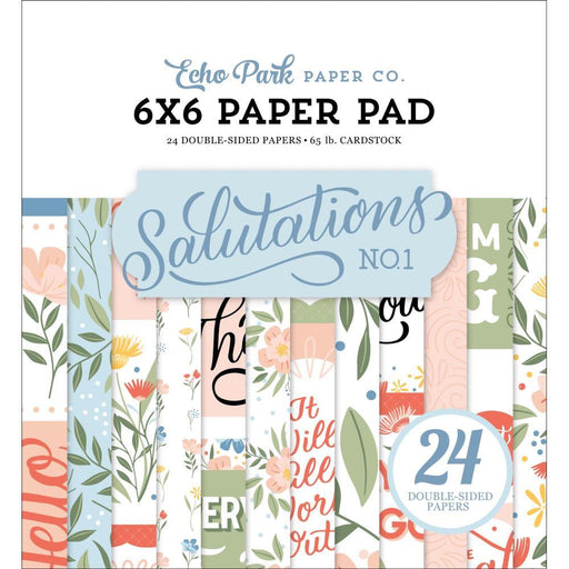 "Echo Park 6""x6"" Double Sided Paper: Salutations No. 1 (AN244023)-Only One Life Creations"
