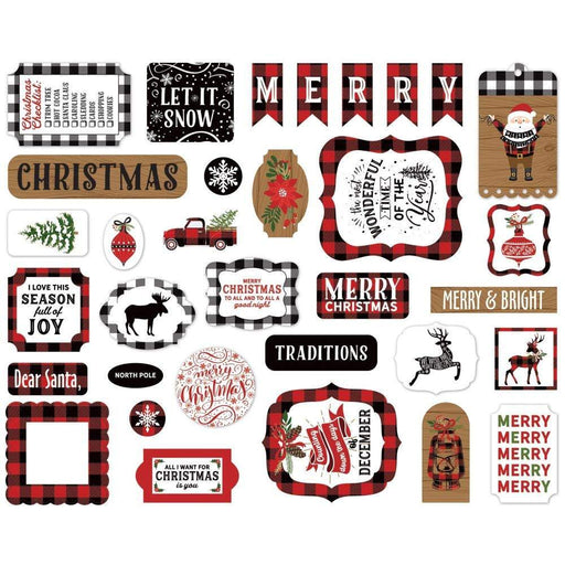 Echo Park Cardstock Ephemera 33/Pkg: Icons, A Lumberjack Christmas (LC220024)-Only One Life Creations