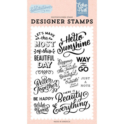 Echo Park Clear Stamps: Hello Sunshine (AN244045)-Only One Life Creations