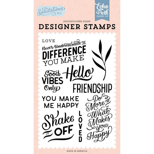 Echo Park Clear Stamps: You Make Me Happy (AN244044)-Only One Life Creations