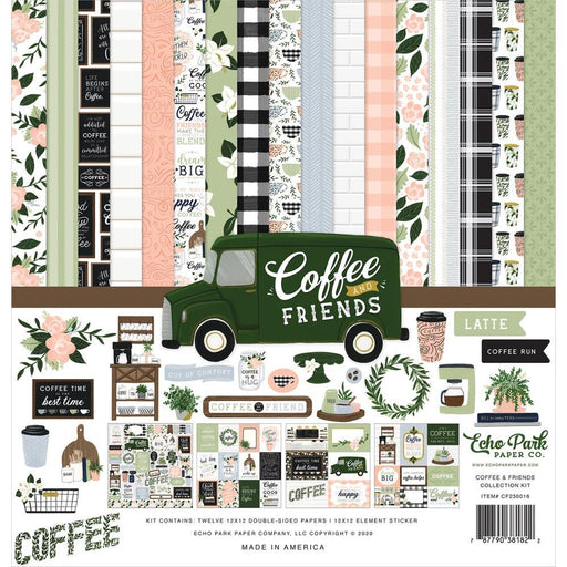 "Echo Park Coffee and Friends 12""x12"" Collection Kit (CF230016)-Only One Life Creations"