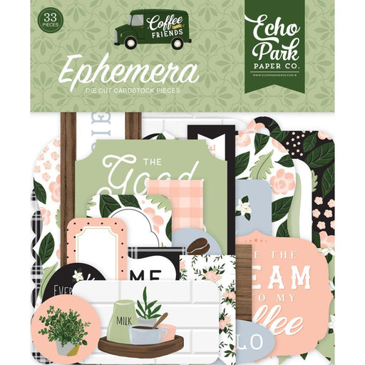 Echo Park Coffee and Friends Cardstock Ephemera (CF230024)-Only One Life Creations