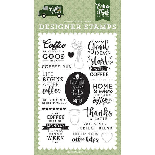 Echo Park Coffee and Friends Clear Stamps: Coffe Run (CF230041)-Only One Life Creations
