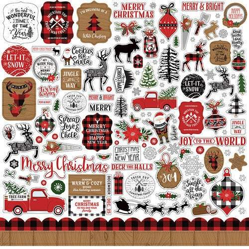"Echo Park Collection Kit 12""X12"": A Lumberjack Christmas (LC220016)-Only One Life Creations"