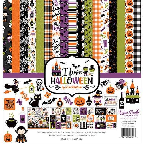 "Echo Park Collection Kit 12""X12"": I Love Halloween (LH218016)-Only One Life Creations"