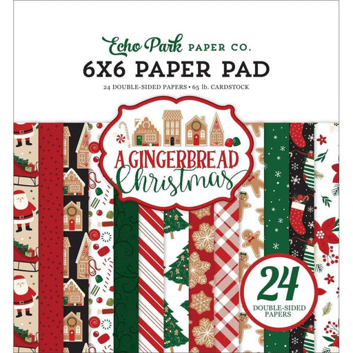 "Echo Park Double-Sided Paper Pad 6""X6"" 24/Pkg: A Gingerbread Christmas (GC221023)-Only One Life Creations"