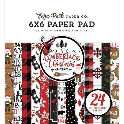 "Echo Park Double-Sided Paper Pad 6""X6"" 24/Pkg: A Lumberjack Christmas (LC220023)-Only One Life Creations"