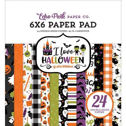 "Echo Park Double-Sided Paper Pad 6""X6"" 24/Pkg: I Love Halloween (LH218023)-Only One Life Creations"