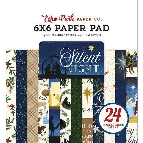 "Echo Park Double-Sided Paper Pad 6""X6"" 24/Pkg: Silent Night (SN222023)-Only One Life Creations"