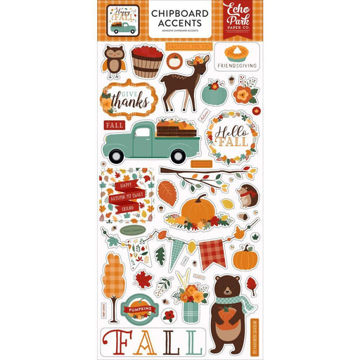 "Echo Park Happy Fall Chipboard 6""X13"": Accents (AP219021)-Only One Life Creations"