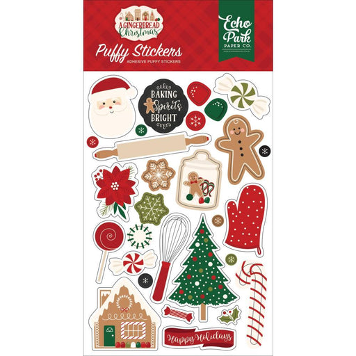 Echo Park Puffy Stickers: A Gingerbread Christmas (GC221066)-Only One Life Creations