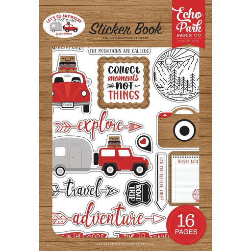 Echo Park Sticker Book: Let's Go Anywhere (GA242029)-Only One Life Creations