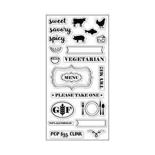 Fiskars Clear Stamp Set: Hostess With The Mostest (146890)-Only One Life Creations