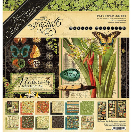 "Graphic 45 12""x12"" Delux Collector's Edition Pack: Natures Notebook (G4502093)-Only One Life Creations"