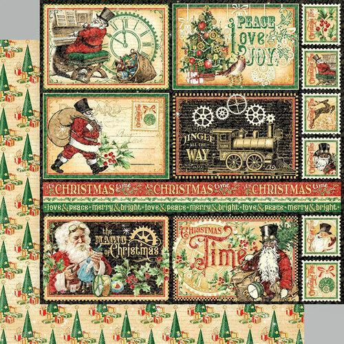 "Graphic 45 8""X8"" Double-Sided Paper Pad: Christmas Time (G4502118)-Only One Life Creations"
