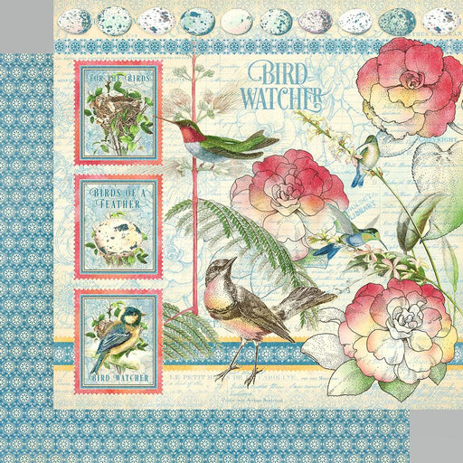 "Graphic 45 Bird Watcher 8""x8"" Double Sided Paper Pad (G4502210)-Only One Life Creations"