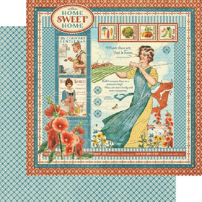 "Graphic 45 Home Sweet Home Deluxe Collector's Edition, 12""x12"" (G4502090)-Only One Life Creations"