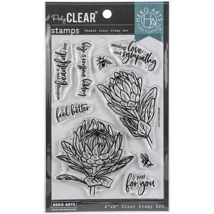 "Hero Arts Clear Stamps 4""X6"": Protea Flowers (HACM448)-Only One Life Creations"