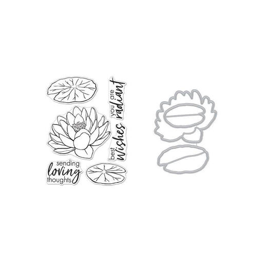 Hero Arts Coloring Layer Stamps and Die: Hero Florals Lotus (HASB271)-Only One Life Creations