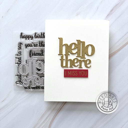 Hero Arts Stamp and Cut: Hello There (HADC284)-Only One Life Creations