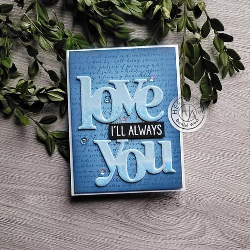 Hero Arts Stamp and Cut: Love You (HADC281)-Only One Life Creations