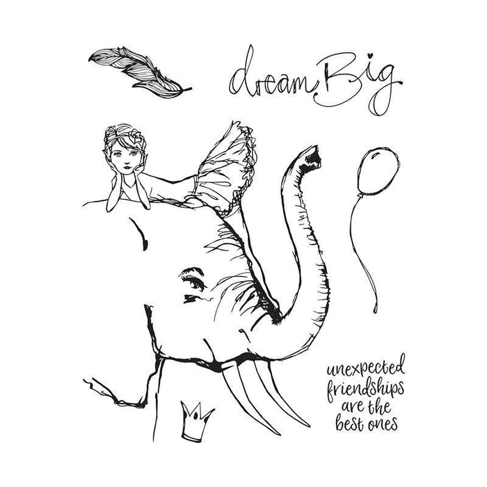 Jane Davenport Whimsical and Wild Collection Clear Stamps: Elephant Dream (JDS051)-Only One Life Creations
