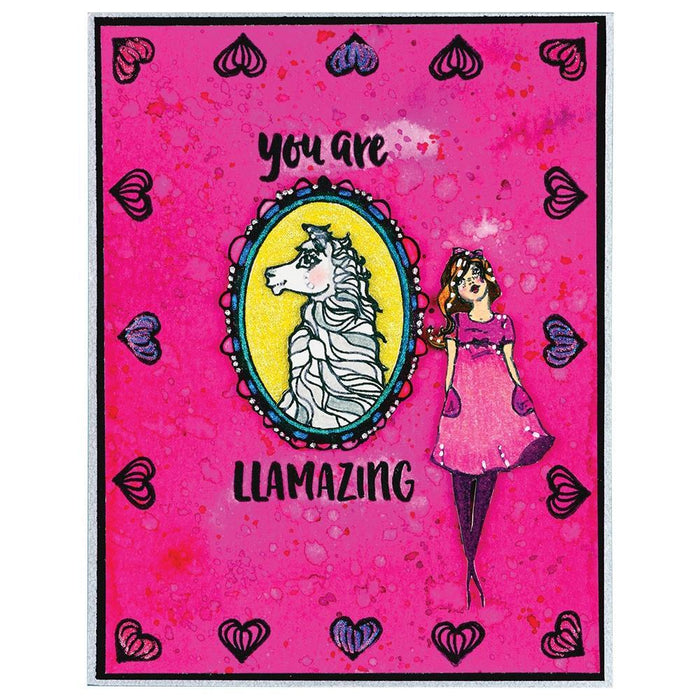 Jane Davenport Whimsical and Wild Collection Clear Stamps: Llama Drama (JDS055)-Only One Life Creations