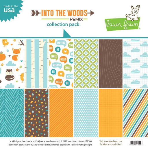 "Lawn Fawn 12""x12"" Single-Sided Paper Pack: Into The Woods Remix (LF2386)-Only One Life Creations"