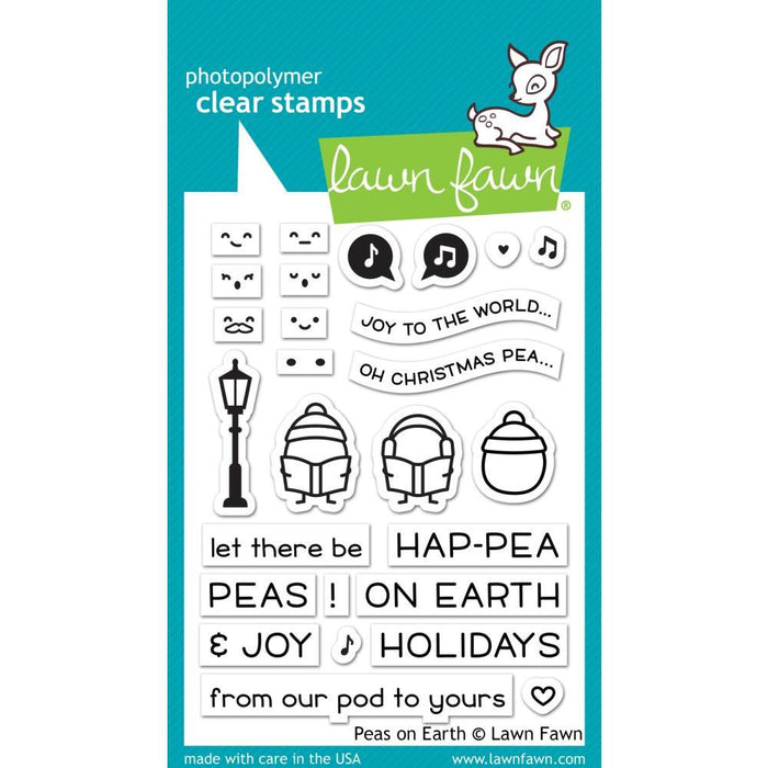 "Lawn Fawn 3""x4"" Clear Stamps: Peas on Earth (LF2421)-Only One Life Creations"
