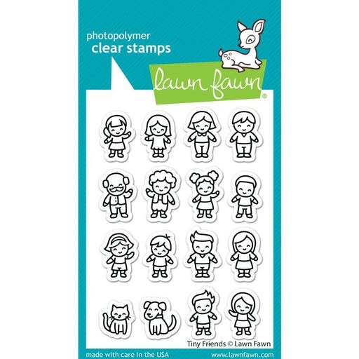 "Lawn Fawn 3""x4"" Clear Stamps: Tiny Friends (LF2506)-Only One Life Creations"