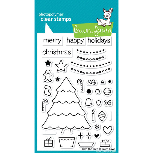 "Lawn Fawn 4""x6"" clear stamps: Trim The Tree (LF564)-Only One Life Creations"