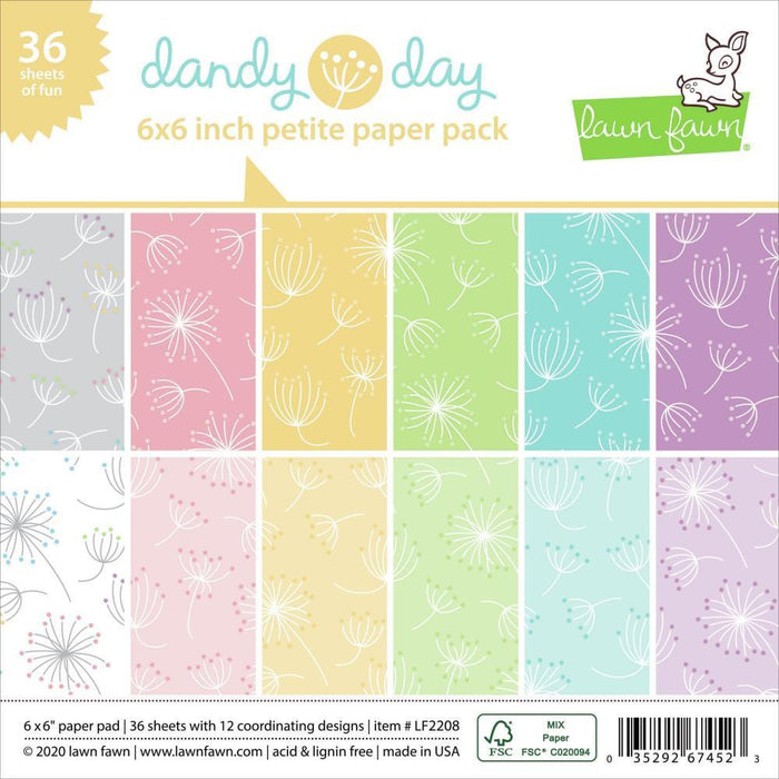 Lawn Fawn 6x6 Single-Sided Petite Paper Pack: Dandy Day (LF2208)-Only One Life Creations