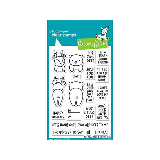 Lawn Fawn Clear Stamp: For You, Deer (LF1480)-Only One Life Creations