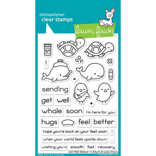 Lawn Fawn Clear Stamp: Get Well Before 'n Afters (LF1886)-Only One Life Creations