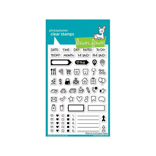 Lawn Fawn Clear Stamp: Plan On It (LF1129)-Only One Life Creations