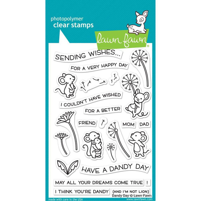 "Lawn Fawn Clear Stamps 4""x6"": Dandy Day (LF2217)-Only One Life Creations"