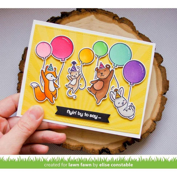 "Lawn Fawn Clear Stamps 4""x6"": Really High Five (LF2215)-Only One Life Creations"