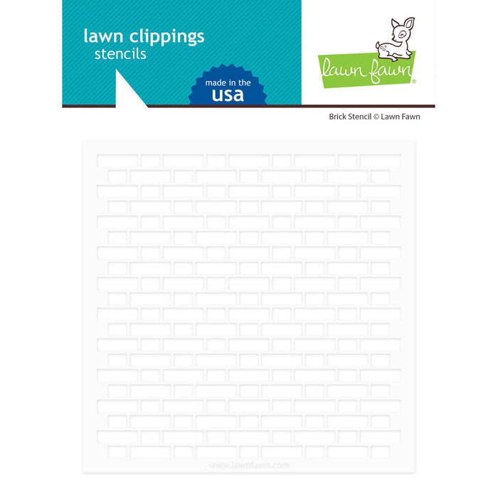 Lawn Fawn Clippings Stencils: Brick (LF2364)-Only One Life Creations
