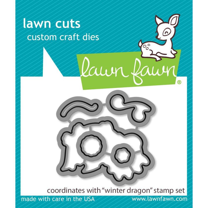 Lawn Fawn Custom Craft Die Cuts: Winter Dragon (LF2426)-Only One Life Creations