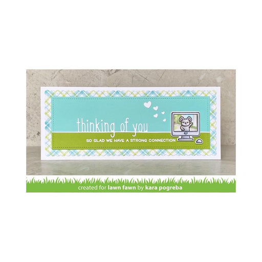 Lawn Fawn Cut Custom Craft Die: Thinking Of You (LF2529)-Only One Life Creations