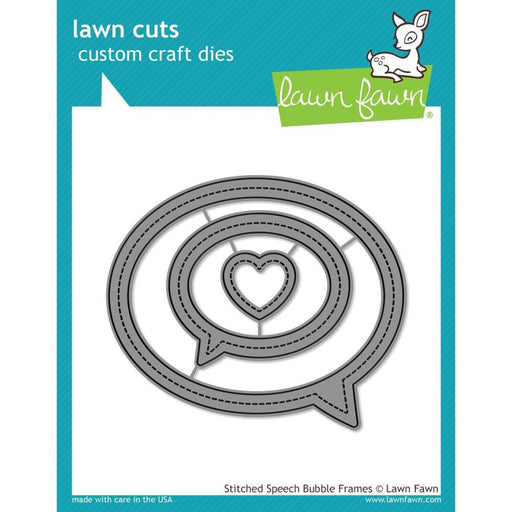 Lawn Fawn Lawn Cuts Custom Craft Die: Stitched Speech Bubble Frames (LF1991)-Only One Life Creations