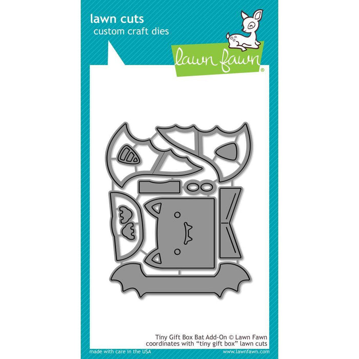 Lawn Fawn Tiny Gift Box Bat Add-On Lawn Cuts Custom Craft Die: (LF1789)-Only One Life Creations