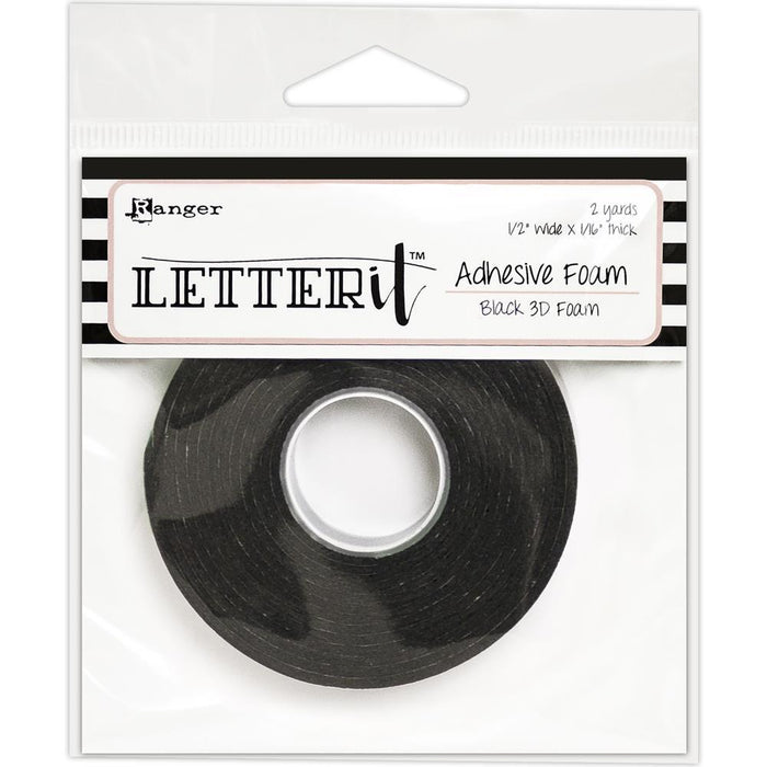 Letter It Adhesive Black 3D Foam 2 yards, by Ranger (LEA62882)-Only One Life Creations