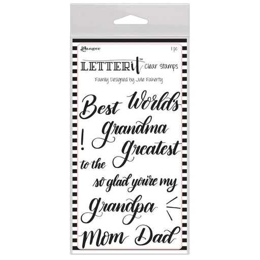Letter It Clear Stamps: Family, by Ranger (LEC65784)-Only One Life Creations