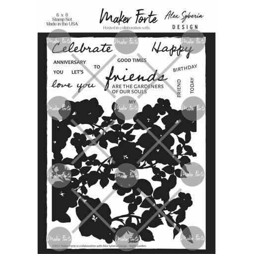 "Maker Forte 6""x8"" Clear Stamps: Night Garden (20090299)-Only One Life Creations"