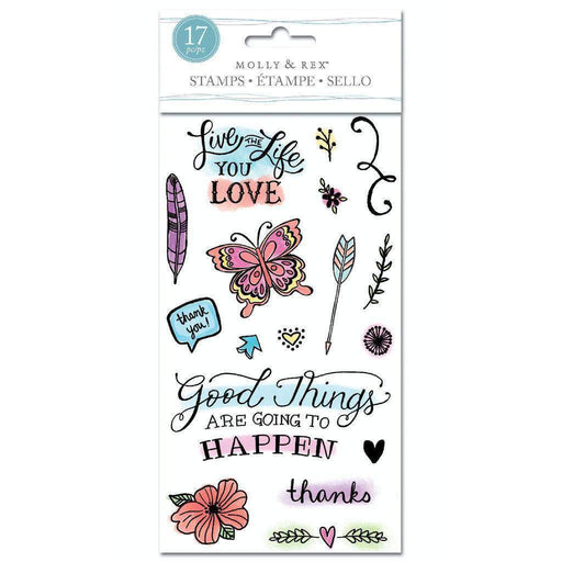Molly & Rex Clear Stamp Set: Good Things-Only One Life Creations