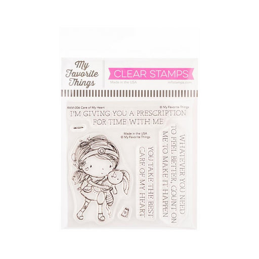 "My Favorite Things 4""x4"" Clear Stamps: Care of My Heart (RAM006)-Only One Life Creations"